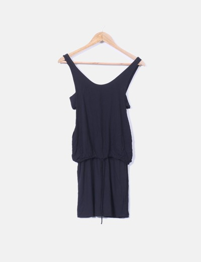 Bershka Robe Noire Mini Moulante Reduction 96 Micolet