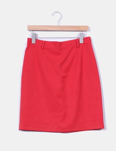 Falda midi roja NoName