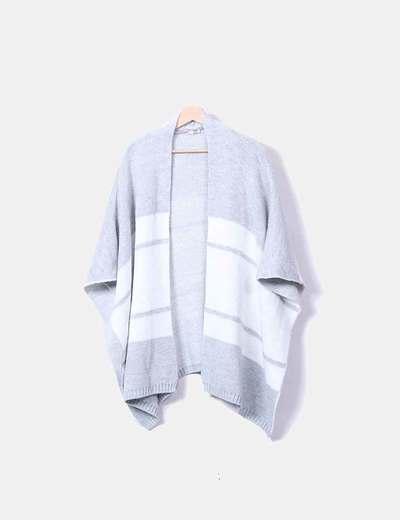 Cárdigan capa tricot gris