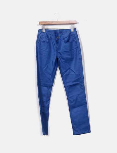 Pantalón azul encerado