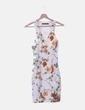Vestido blanco floral Zara