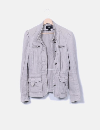 Chaqueta denim color topo H&M