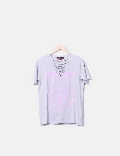 Primark Graues und rosafarbenes T-Shirt The Ramones (Rabatt 74 ... f29f4c5392