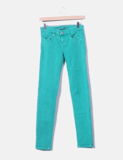 Jeans deni skinny verde
