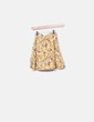 Falda cruzada floral amarilla Bershka