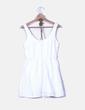 Vestido blanco troquelado Bershka