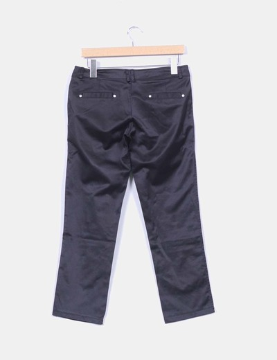 Pantalon negro saitnado