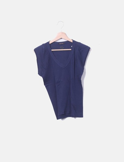 Camiseta manga corta azul marino Bimba&Lola