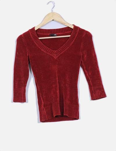 Jersey de terciopelo color calera H&M
