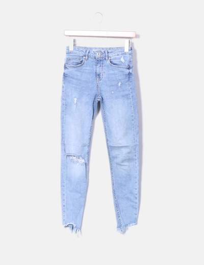 Jeans claros cropped