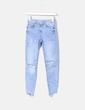 Jeans chiari tagliati Bershka