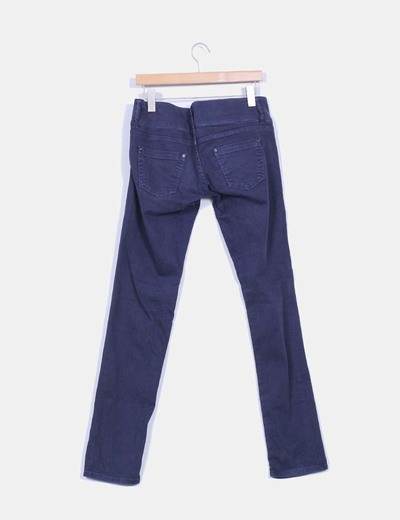 Pantalon recto azul marino