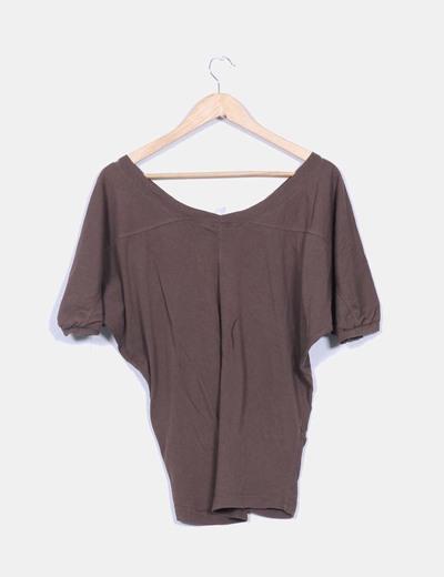 Camiseta marron oversize