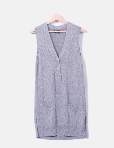 Vestido tricot gris jaspeado
