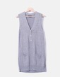 Vestido tricot gris jaspeado Massimo Dutti