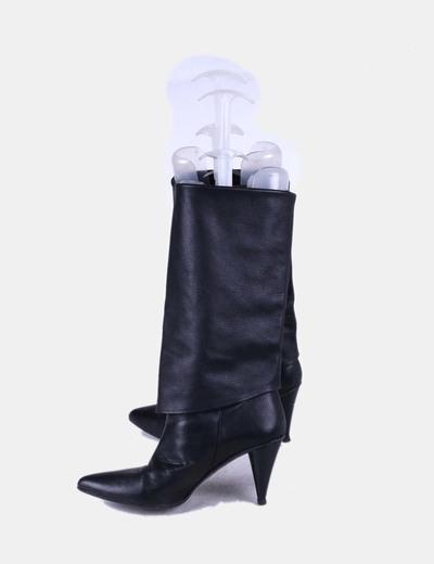 Bota polipiel negra Zara