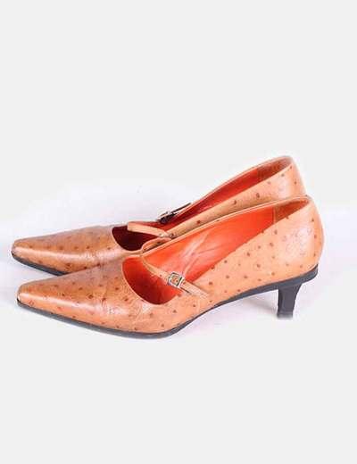 Zapatos marrones piel con topos Farrutx