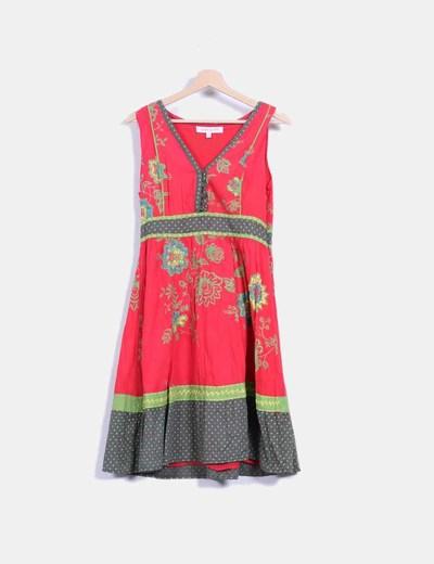 Vestido con estampado multicolor  Peace And Love