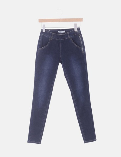 Jeans azules cremallera lateral