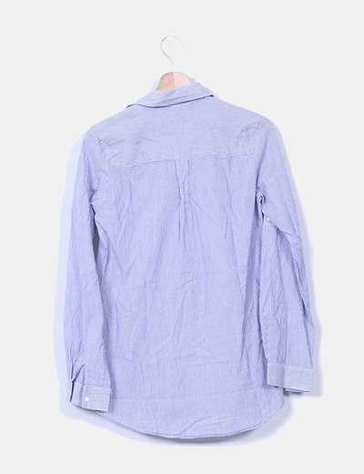 Camisa larga rayas azules