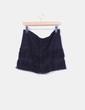 Minifalda negra con flecos Comercio Modaland