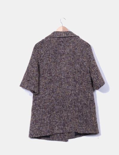 Abrigo marron texturizado