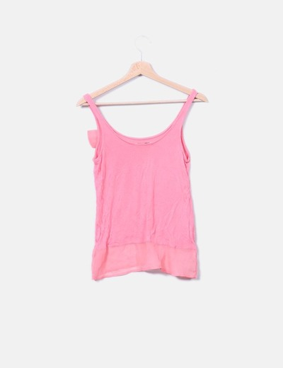 334cf9299012e Bershka Chemisier rose avec motif cravate (réduction 84%) - Micolet