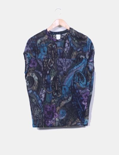 Camiseta jaspeada multicolor Zara