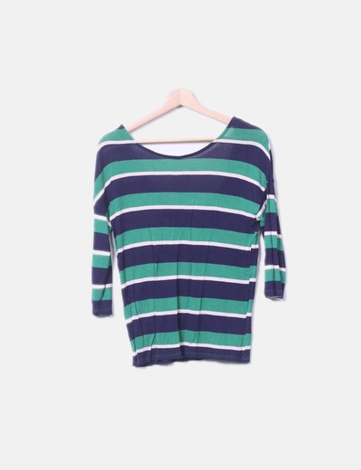 Top tricot rayas verde