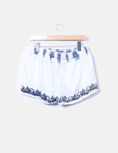 Shorts fluido denim