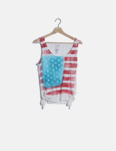 Camiseta nudos print bandera USA