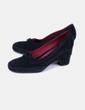 Zapato negro de tacón antelina Aerosoles