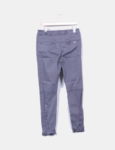 Pantalon gris texturizado