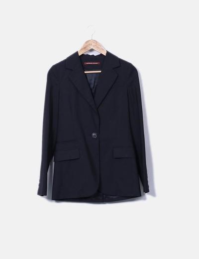 Blazer negra entallada Comptoir des Cotonniers