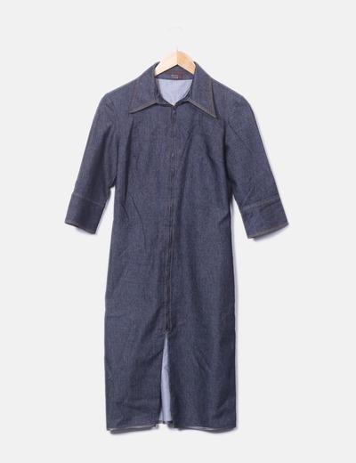 Vestido denim de manga corta