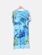 Vestido azul de licra estampado con strass Alida Copelli