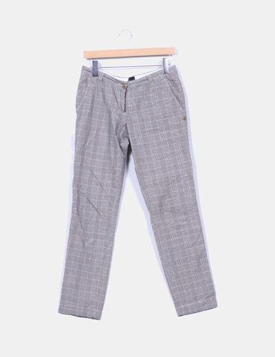Pantalón cuadros grises Maison Scotch