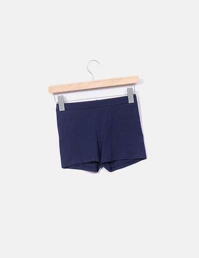 Short azul con elástico