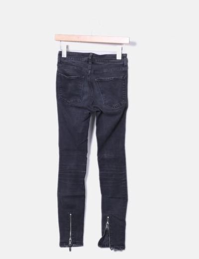Jeans denim slim fit negro