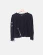 Jersey negro con detalles cremalleras Zara
