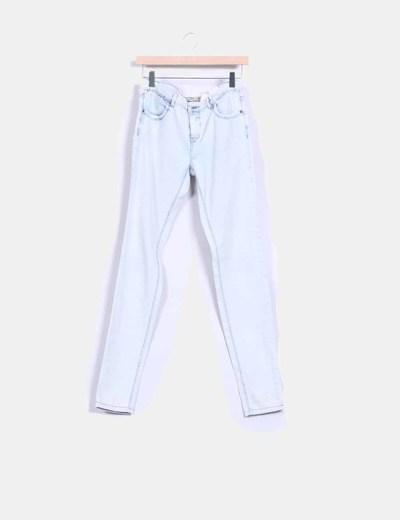 Pantalón claro efecto desteñido Pull&Bear