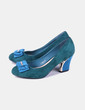 Chaussures en velours avec talons Moombasa