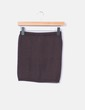 Mini-jupe marron élastique tricoté Vero Moda