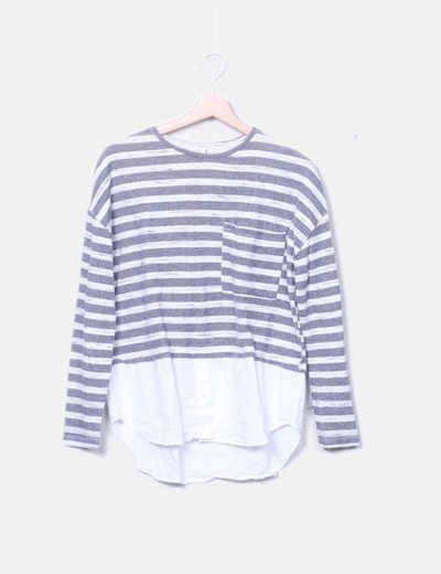 Camiseta combinada rayas