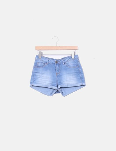 Hem denim shorts Pull&Bear
