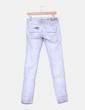 Jeans gris con rotos Bershka