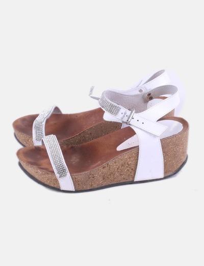 Sandalias blancas plataforma Mistify