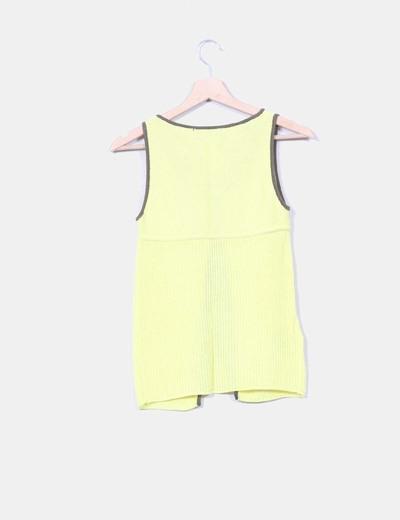 Chaleco tricot amarillo fluor