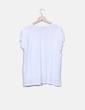 Camiseta blanca bolsillo estampado Zara