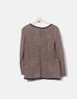 Cárdigan tricot marrón jaspeado Springfield